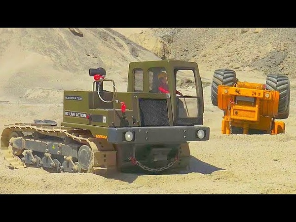 RC MOROOKA T800 WITH 80tWINCH CROSS RC MC6 IN ACTION AMAZING RC TRUCK RESCUE BIGGEST CONSTRUCTION