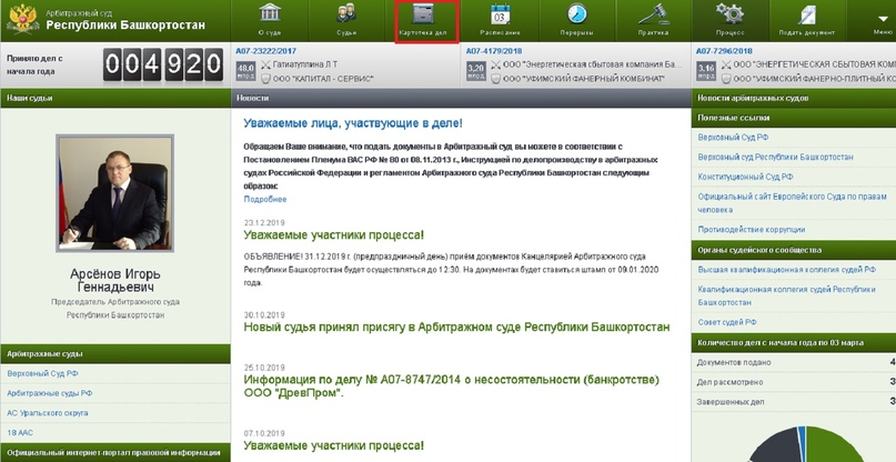 Официальный сайт Арбитражного суда Республики Башкортостан