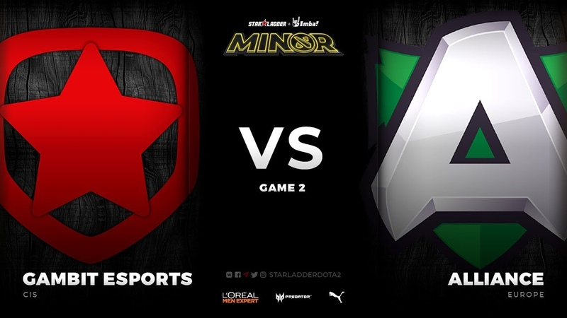 RU Gambit Esports vs Alliance Game 2 StarLadder ImbaTV Dota 2 Minor Season 3