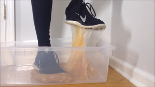 Nike Free Run Shoes Stuck In Glue