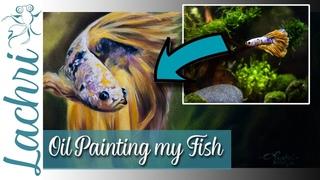 Oil Painting my Betta Fish - Lachri - Ft. Simply Betta