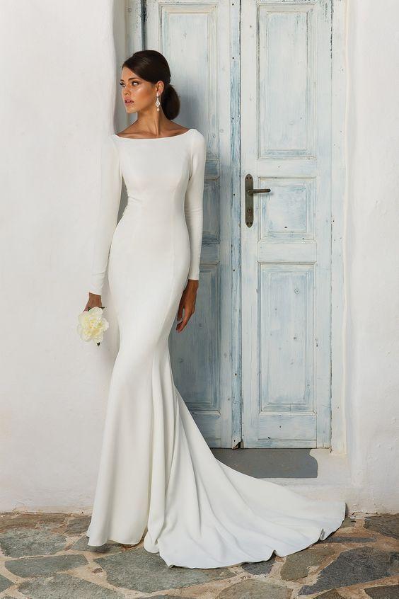 Минимализм в свадебных платьях
