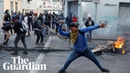 Violent protests in Ecuador force government to move