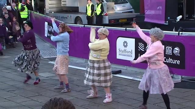 The Dancing Grannies strut their stuff in Stafford