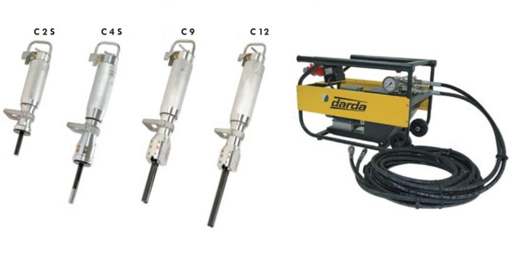 Модельный ряд гидроклиньев Darda и силовая установка