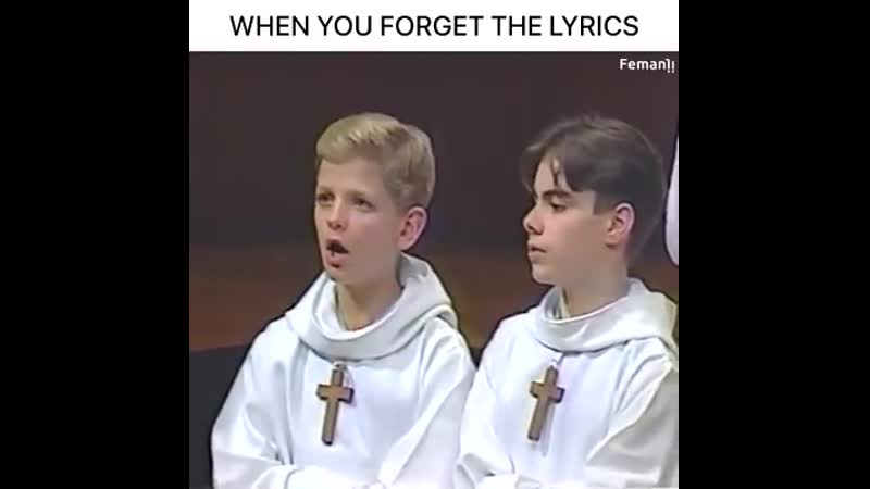 WHEN YOU FORGET THE LYRICS