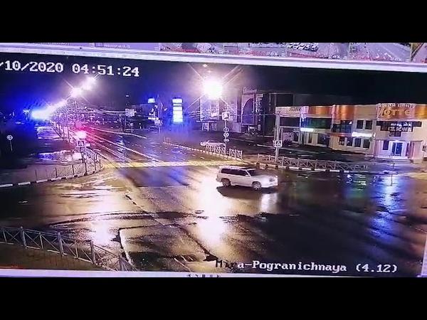 Женщина на Лексусе погибла в ДТП на пересечении проспекта Мира и Пограничной камера наблюдения