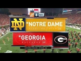 Week 4 - Georgia Bulldogs Football Vs. Notre Dame Fighting Irish (Full Game - 2019)