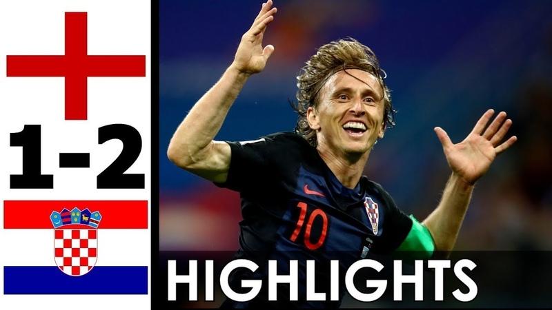 🔥 Хорватия - Англия 2-1 - Обзор Матча Полуфинал Чемпионата Мира 11072018 HD 🔥