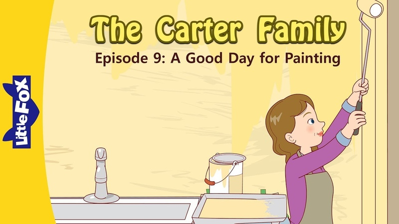 The Carter Family 9 | A Good Day for Painting | Family | Little Fox | Animated Stories for Kids