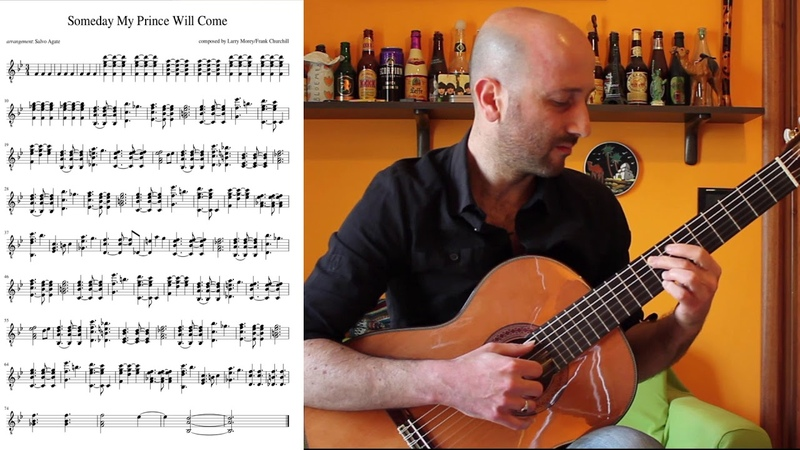 Someday My Prince Will Come guitar cover free Sheet Music TAB pdf