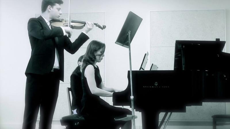 Poulenc Sonata for violin and piano ll Intermezzo LIVE by David Chakvetadze and Anastasia Antropova
