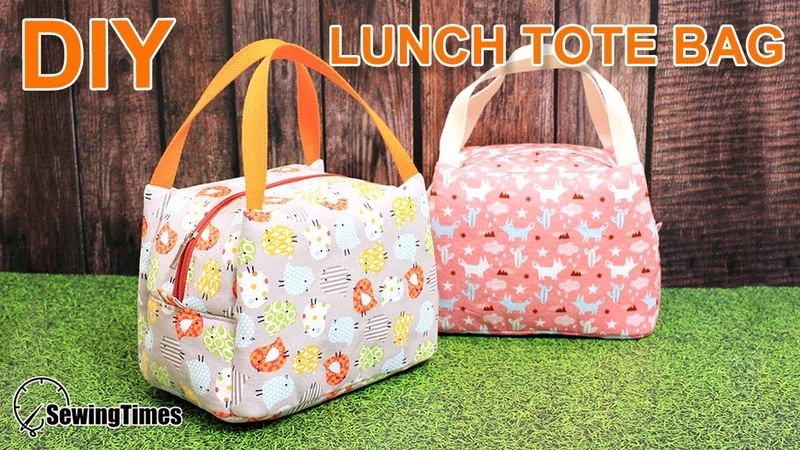DIY Lunch Tote Bag 도시락 가방만들기 | Weekend Picnic Hand Bag Tutorial [sewingtimes]