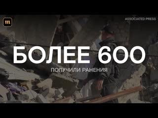 Землетрясение магнитудой 6,3 в албании