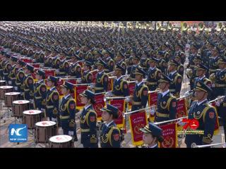 КНР отмечает 70 лет со дня основания. На площади Тяньаньмэнь в Пекине проходит военный парад и массовое шествие.