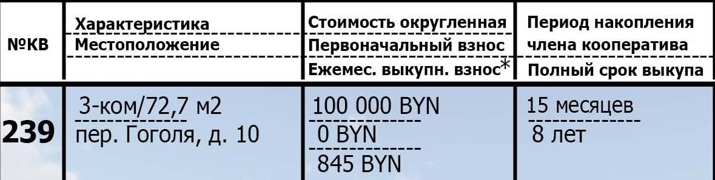 239 квартира в рассрочку