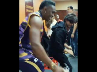 Scenes from inside the tkr dressing room after our win vs jamaica tallawahs last night -
