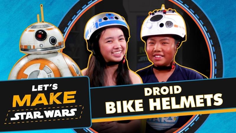 How to Make R2-D2 BB-8 Bike Helmets | Lets Make Star Wars
