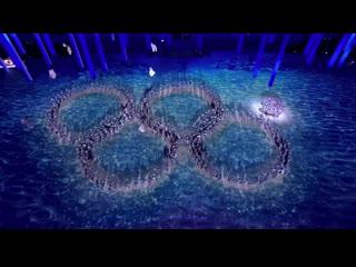 Раскрывшееся кольцо, церемония закрытия Сочи-2014
