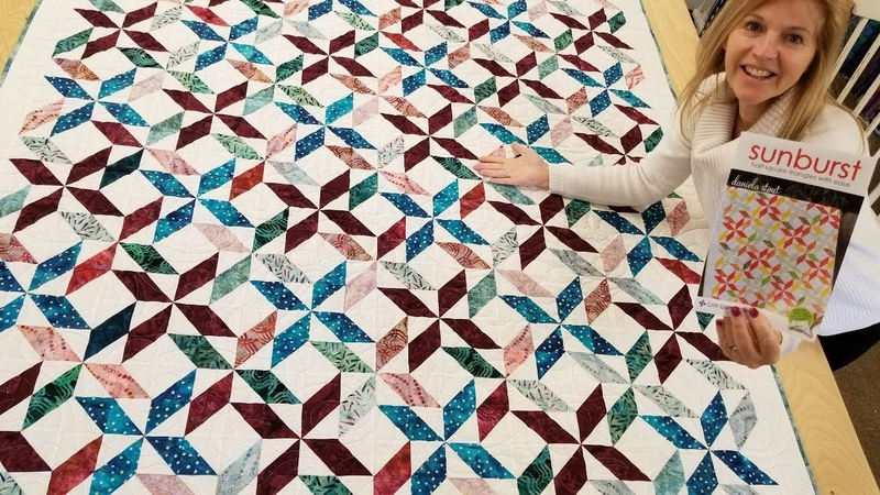 Sunburst More Like... FUNburst Sew Pretty Half Square Strip Tube Quilt Tutorial )