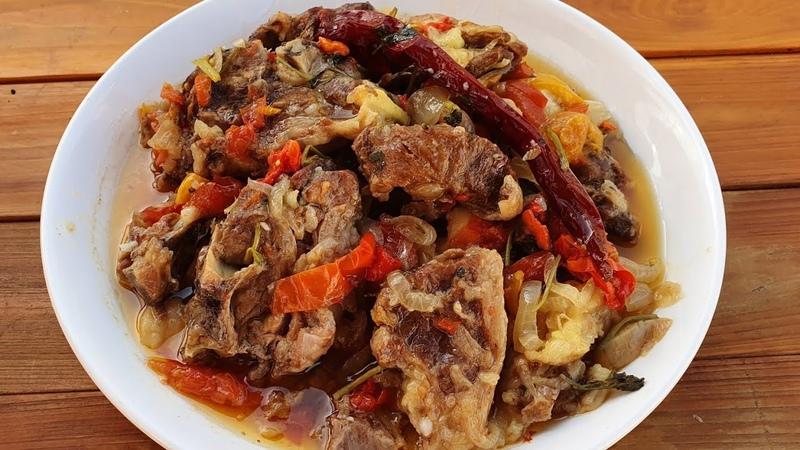 Azerbaijani Traditional Lamb Stew Recipe Bughlama Super Ləzzətli Buğlama Resepti ASMR Cooking