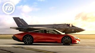 FULL FILM: McLaren Speedtail vs F35 Fighter Jet   Top Gear