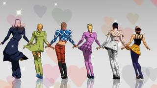 [JOJO MMD] Ghost Dance - Team Bucciarati ジョジョ