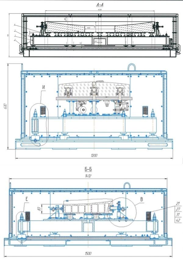 Чертежи главного, вторичного и третичного зеркал Севана в транспортных контейнерах. (Источник: сайт госзакупок России)
