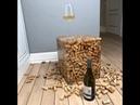 Куб из винных пробок и эпоксидной смолы. wine plug and epoxy rectangle