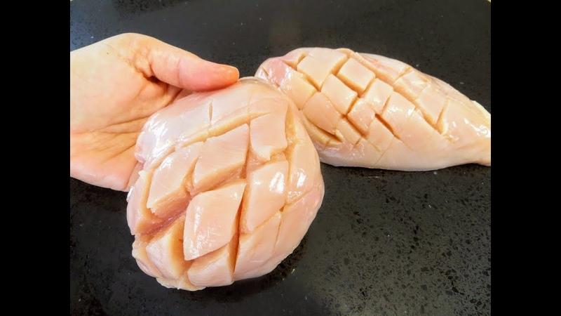 Надрезаем маринуем запекаем Очень сочная куриная грудка Рецепты Другой Кухни