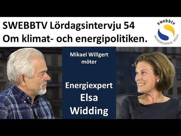 Lördagsintervju 54 med energiexpert Elsa Widding om klimat- och energipolitiken (English subtitles).