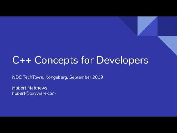 C Concepts for Developers - Hubert Matthews