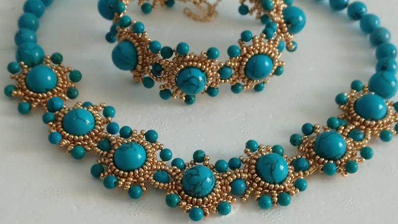 Tuğla Tekniği ile Yapılan Turkuaz Bileklik | Brick Stitch Turquoise Bracelet Tutorial