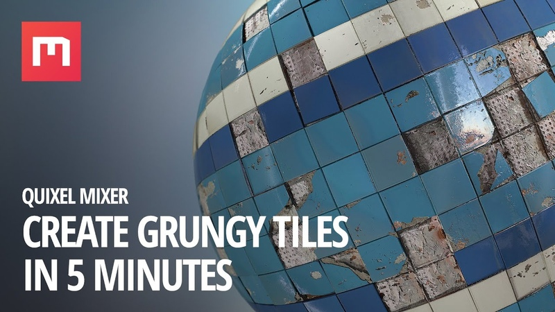 Create Grungy Tiles in Mixer: 5 minute tutorial
