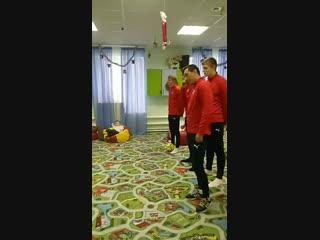 Встреча с футболистами клуба Салют