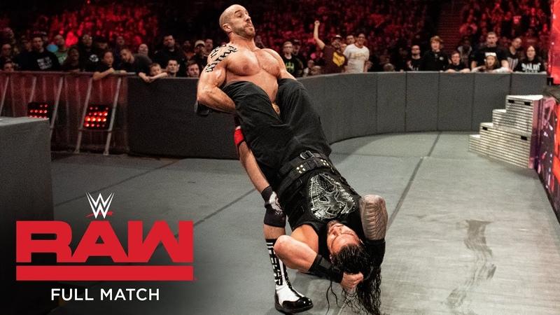 FULL MATCH Roman Reigns vs Cesaro Intercontinental Title Match Raw December 11 2017