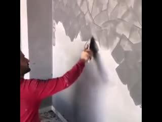 Оригинальная отделка стены -