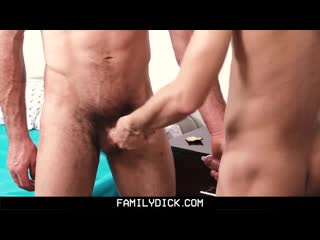 FAMILYDICK - DADDY TEACHES VIRGIN STEPSON TO SUCK AND FUCK gay porn