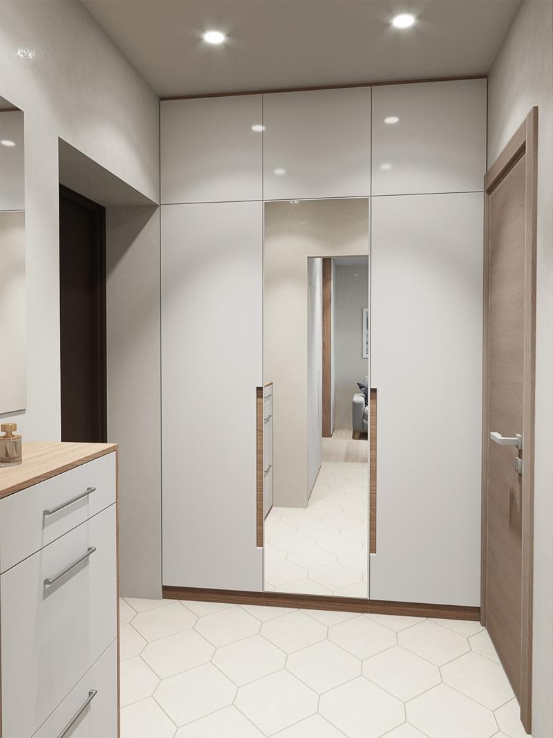 Визуализация маленькой квартиры-студии 22 кв.