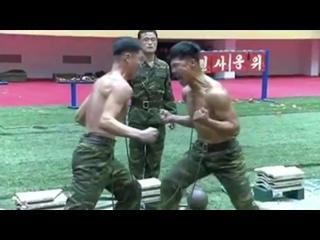 Северокорейские спецназовцы показали опасные трюки