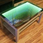 Журнальный столик с 3D эффектом бесконечности