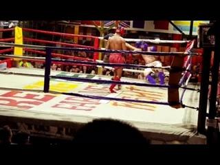 В Таиланде пьяный польский турист решил выйти на ринг против тайбоксера. Видео прикол