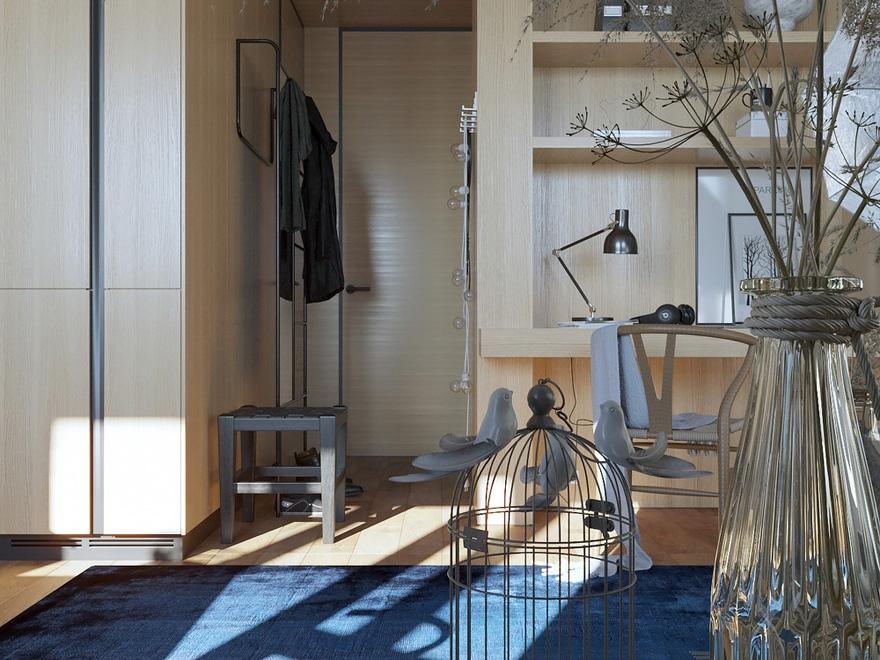 Проект квартиры-студии почти 30 м.