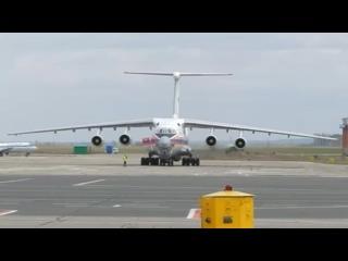 Ил-76 МЧС России взлетает из аэропорта Чебоксары!!!