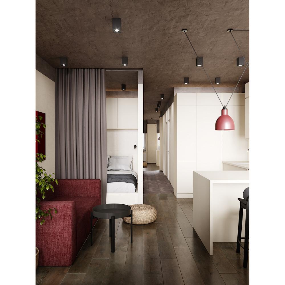 Проект квартиры-студии 27 м.