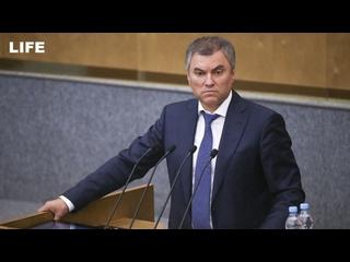 Володин предложил оштрафовать Водонаеву