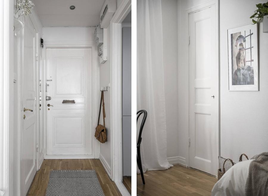 Интерьер маленькой скандинавской квартиры-студии 22 м.