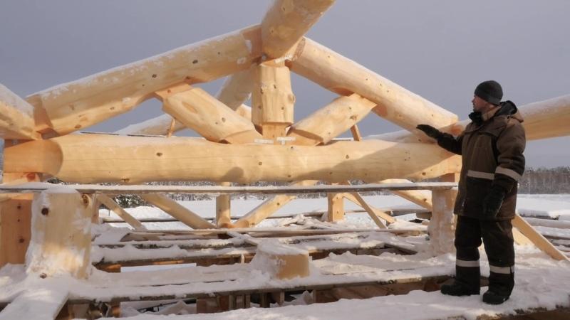 Дом из сруба в Воронеж. Изготовление каркаса крыши post&beam (часть2)