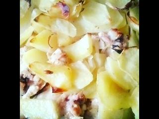 #Мои_кулинарные_извращения #Запечанный_картофель #С_маринованой_курицей