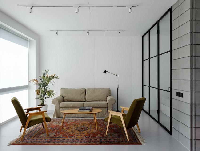 Дизайн студии 45 м из 1-комнатной квартиры в Киеве.